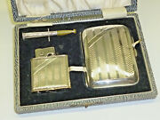 Dubsky Queenie Lighter + Cigarettes Case And Mouthpiece Set - Sterling Silver