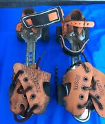Vintage And Extremely Rare Early Pair Of Esmi Roller Skates. Estate Find