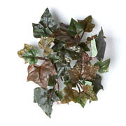 Small Glittered Artificial Grape Leaf Candle Rings - 6 Candle Rings
