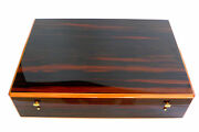 Superb S.t. Dupont Large Lacquered Wood Cigar Humidor 40x28x10cm France