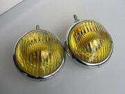 Hella Yellow Fog Lamp Lights For Porsche 356 911 And Mb Mercedes Sl Nos
