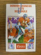 1979 American Football Fixture Card Denver Broncos - Nfl Schedule [four Pages].