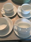 4 Sets Of Mikasa Fine China Laa03 Special Occasion Plates Cups And Saucers.