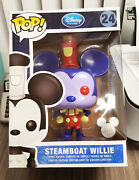 """Funko Pop Disney Steamboat Willie 9"""" Redux 2013 D23 1/250 Le Box Imperfections"""