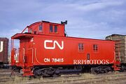 Railroad Large Print Canadian National Cn Fresh Wooden Caboose 78415