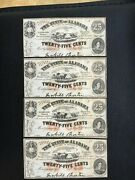 4 25 Cent The State Of Alabama Notes Ch To Gem Cu Plates A B C D