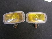 Mercedes 190 300 Sl Gulwing Yellow Fog Lamp Light Foglight Foglamp Hella Mb