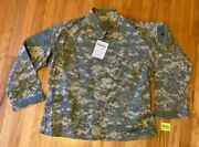 Nwt- Army Issued Buzz Off Ins Rep Acu Camo Universal Pattern Uniform Top Lg Reg