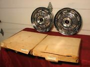 68 1968 Olds Oldsmobile Cutlass 442 Nos Gm Wire Hubcaps Pt 399466
