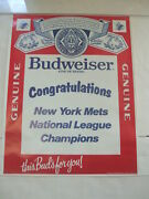 Vintage Budweiser New York Mets 1986 National League Champions Giveaway Poster