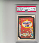 1973 Opc Wacky Packages Minute Lice 1st Series White Back Psa 8 Pop 1