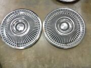 2 Ford Hubcaps 67 68 Mercury Cougar