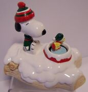 Snoopy Woodstock Skating Musical Peanuts Willitts Winter Music Box Love