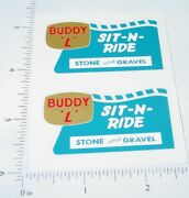 Buddy L Sit N Ride Sand And Gravel Truck Stickers   Bl-147