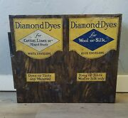 Vintage Tin Litho Diamond Dyes Open Front Store Display With Names Of Dyes