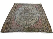 4and0395x6and0396 Tan Antique Farsian Saroogh Firighen Even Wear Hand-knotted Rug R45918