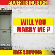 Will You Merry Me Banner Vinyl Sign Mesh Adhesive Decal Sticker Marriage Wedding