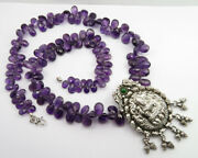 Natural Amethyst 925 Sterling Silver Necklace 25.1 Christmas Gift Bags