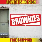Brownies Advertising Banner Vinyl Mesh Decal Sign Bakery Cakes Homemade Pastry