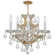 Crystorama Traditional Maria Theresa Chandelier Crystal Spectra 4405-gd-cl-saq