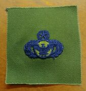 Usaf Us Air Force Security Police Master Qualification Green Badge Patch