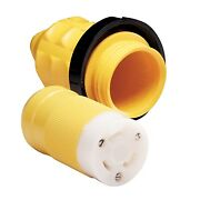 Marinco 05crcn.vpk Locking Female Connector And Cover 30 Amp 125 Volt