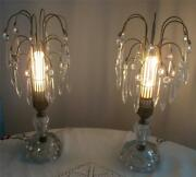 Waterford Art Deco Table Lamp With Crystal Prisms