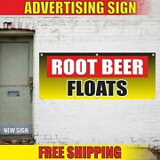 Root Beer Floats Advertising Banner Vinyl Mesh Decal Sign Drink Ice Carnival Exc