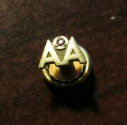Vintage American Airlines 10k Gold Pin W/ Ruby - Aviation 10kt