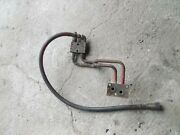 Farmall Ih 450 Rowcrop Tractor Front Steel Hydraulic Lines And Connector W/ Hose