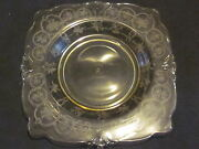 Heisey Formal Chintz Sahara Bread And Butter Plates Square 4