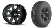 20x9 Ion 141 35 Mt Black Wheel And Tire Package Set 6x5.5 2019 Dodge Ram 1500