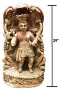 Rare 1800and039s 19th Century South American Sculptural Niche Carving Painted Wood