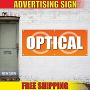 Optical Advertising Banner Vinyl Mesh Decal Sign Sunglasses Contacts Shop Rims