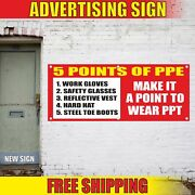 Points Of Ppe Advertising Banner Vinyl Mesh Decal Sign Safety Any Size Free Ship