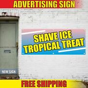 Shave Ice Tropical Treat Advertising Banner Vinyl Mesh Decal Sign Cream Milk Cup