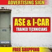 Technicians Advertising Banner Vinyl Mesh Decal Sign Certified Ase I-car Trained