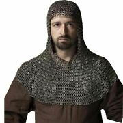 New Chain Mail 9 Mm Flat Riveted With Flat Washer Medieval Coif Hood