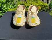 19th Century Beaded Arapaho Indian Moccasins From A Major Collection