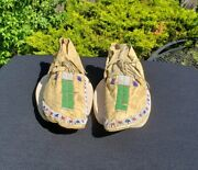 19th Century Beaded Sioux Indian Moccasins, From A Major Collection