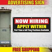 Now Hiring Advertising Banner Vinyl Mesh Decal Sign Apply Within Work Job Wanted