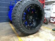 Fuel D531 Hostage 20x12 Wheels 33 Mt Tire Package 6x5.5 Toyota Tacoma