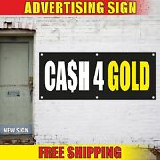 Cash 4 Gold Advertising Banner Vinyl Mesh Decal Sign Jewellery Pawn Shop We Buy