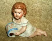 1800and039s German Porcelain Piano Baby Drummer