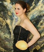 Judith Leiber Melo Indian Volute Conch Sea Shell Minaudiere Shoulder Bag Purse