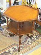 Rare Kittinger Colonial Williamsburg Rotating Book Table 1960's Excellent Co