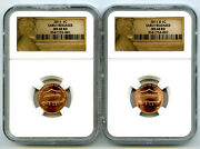 2011 P D Union Shield Cent Set Early Releases Ngc Ms68 Rd Extremely Rare Us Mint