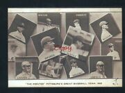 Real Photo 1908 Pittsburgh Pirates Baseball Team Honus Wagner Postcard Copy