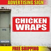 Chicken Wraps Advertising Banner Vinyl Mesh Decal Sign Fair Food Poultry Grill
