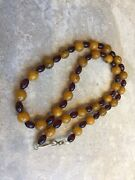 Vintage Buterscotch Amber Cherry Amber Bead Necklace